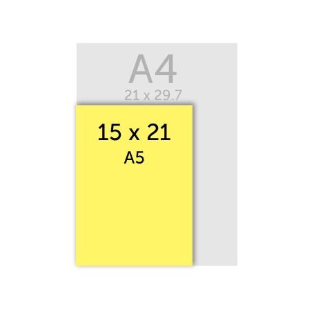Flyer 15 x 21cm (A5) Dorure Or ou Argent