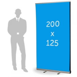 Roll up double format 125 x 200 cm