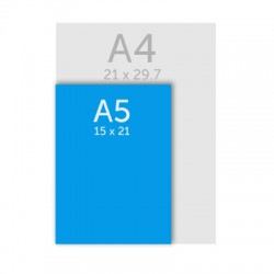 Bloc papier A5 ( 15 x 21 cm)
