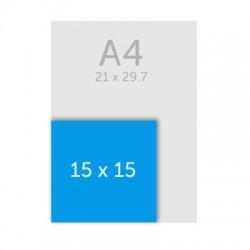 Bloc papier carré A5 (15 x 15 cm)