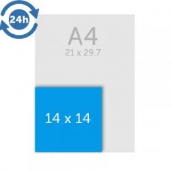 Flyers 14 x 14 cm - EXPRESS 24H
