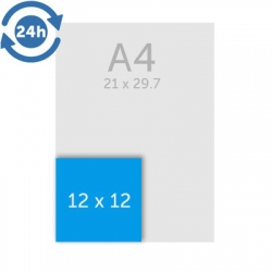 Flyers 12 x 12 cm - EXPRESS 24H