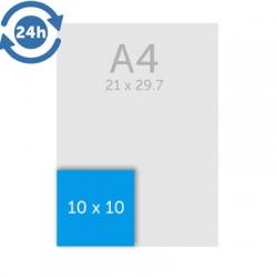 Flyers 10 x 10 cm - EXPRESS 24H