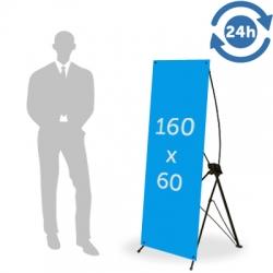 X Banner format 160 x 60 cm - 24H EXPRESS