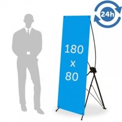 X Banner format 180 x 80 cm - 24H EXPRESS