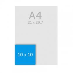 Flyer carré 10 x 10 cm, 350g, pelliculage