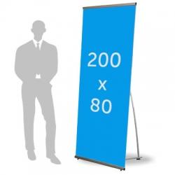 L Banner format 200 x 80 cm