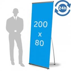 L Banner format 200 x 80 cm 24h express
