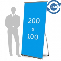 L Banner format 200 x 100 cm 24h express