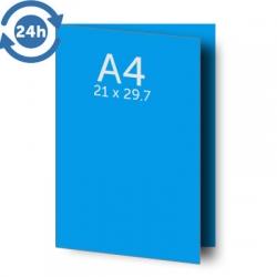 Dépliant A3 (42x30 cm) ouvert A4 (21x30 cm) fermé 1 pli, 135g EXPRESS