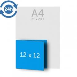 Dépliant 24x12 cm ouvert 12x12 fermé, 1 pli, 135g EXPRESS