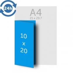 Dépliant 20x20 cm ouvert 10x20 cm fermé, - 1 pli, EXPRESS