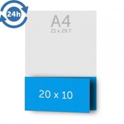 Dépliant 10x40 cm ouvert 10x20 cm fermé, - 1 pli, EXPRESS