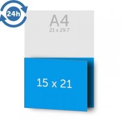 Dépliant 14.80 x 42 cm ouvert 14.8 x 21 cm fermé, - 1 pli, EXPRESS