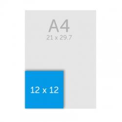 Flyers carré 12 x 12 cm, pelliculage