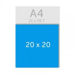 Flyers carré 20 x 20 cm, pelliculage