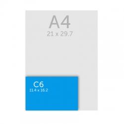 Enveloppe C6 - 11,4 x 16,2 cm