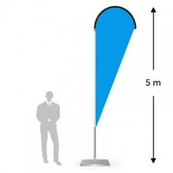 Drapeau forme goutte hauteur 5m