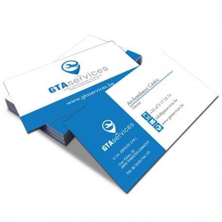Notre selection de 100 cartes de visite rectangulaire 8.5 x 5.5 cm