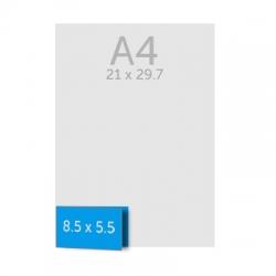 Cartes de visite double rectangle