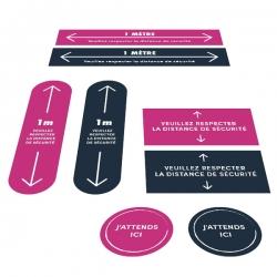 Stickers - respectez les distances de sécurité