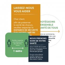 Stickers pour vitre  - prévention & sécurité