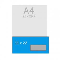 Enveloppe DL- 22 x 11 cm