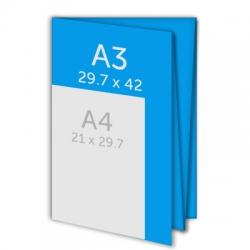 Dépliant A3 - plis croises