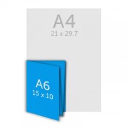 Dépliant A6 - plis croisés