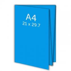 Dépliant A4 - plis croisés