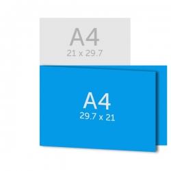 Dépliant A4 (29.7 x 21 cm)