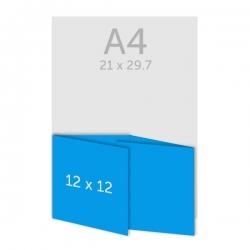 Dépliant carré 12 x 12 cm - plis roulés