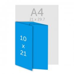 Dépliant 10 x 21 cm,  DL - plis roulés