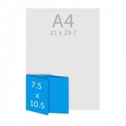 Dépliant 7.5 x 10 cm - plis roulés