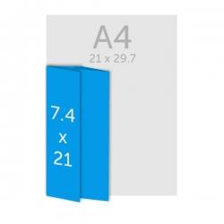 Dépliant 21 x 7.4 cm - plis roulés
