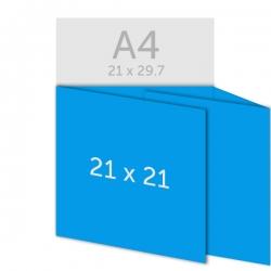 Dépliant carré 21 x 21 cm
