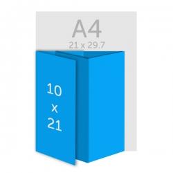 Dépliant 10 x 21 cm - DL - plis roulés