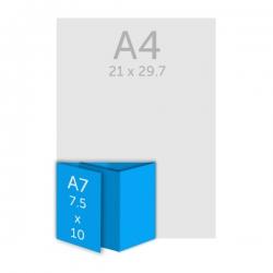 Dépliant 7.5x10 cm