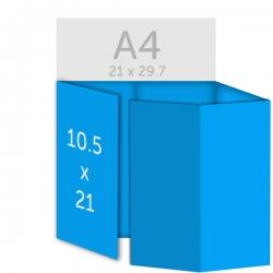 Dépliant 10.5 x 21 cm, plis roulés
