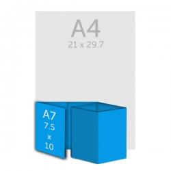 Dépliant 7.5 x 10 cm, 8 volets