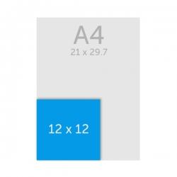 Flyer carré 12 x 12 cm (format CD)