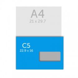 Enveloppe C5 - 22,9 x 16.2 cm