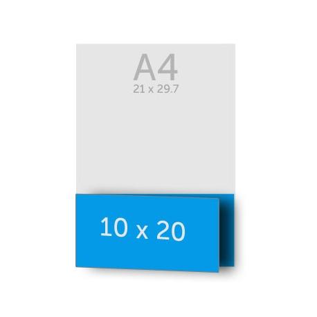Dépliant 10 x 40 cm ouvert en 10 x 20 cm fermé, pelliculage