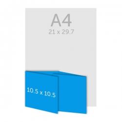 Dépliant carré 10 x 10 cm - plis roulés