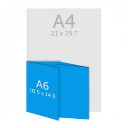 Dépliant  A6(10.5 x 14.8 cm) plis roulés