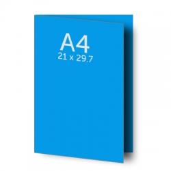 Dépliant (A3) 42 x 29.7 cm ouvert (A4) 21 x 29.7 cm fermé, pelliculage