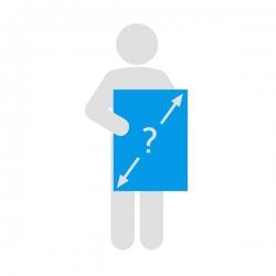 Affiche dos bleu personnalisé, à l'unité