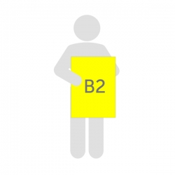 Affiche fluo B2 (50 x 70 cm)