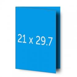 Brochure A3 (29.7x42 cm) pliée en A4 (21x29.7 cm)