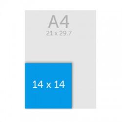 Carte postale carrée -  14 x 14 cm